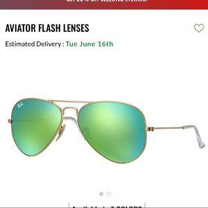 Green Flash Aviator Flash Lenses